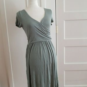 NWT Sage Green Wrap Dress